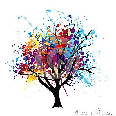 Free Paint Splat Tree Stock Image - 19896481