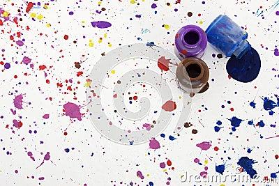 Paint Splatter on Floor