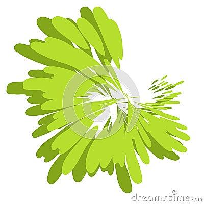 Paint Splatter Texture Green