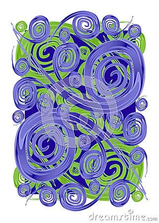 Paint Swirls Spirals Textures