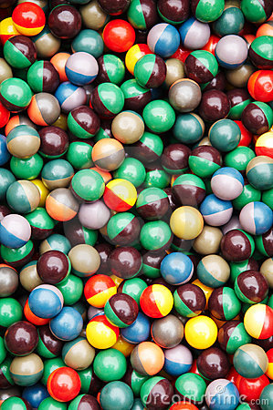 Paintball bullet multicolored balls