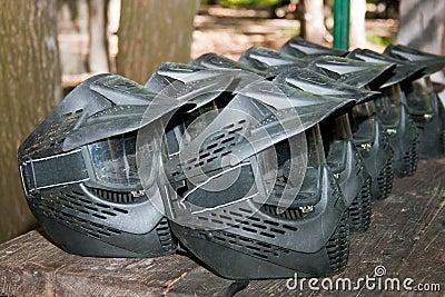 Paintball helmet protective masks