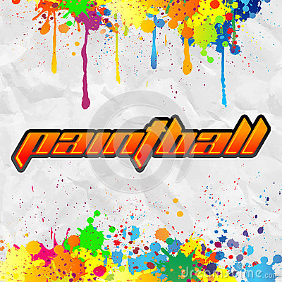 Paintball lettering - colorful banner
