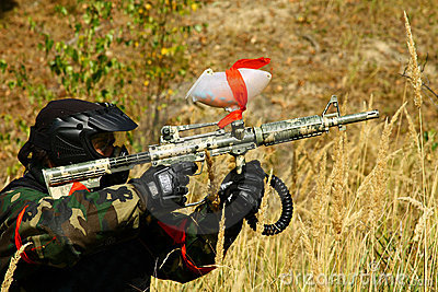 Paintball men Editorial Stock Image