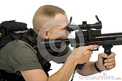 Paintball-Scharfschütze