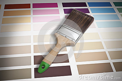 Paintbrush And Color Chart