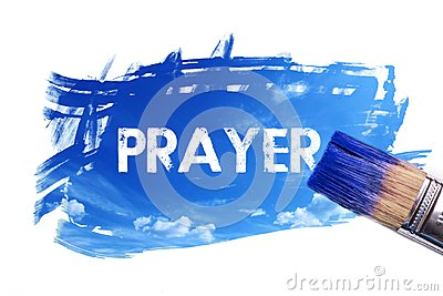 Painting prayer word Stock Photo