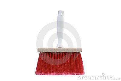 Paintbrush with red bristles