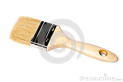 Paintbrush with stiff bristles