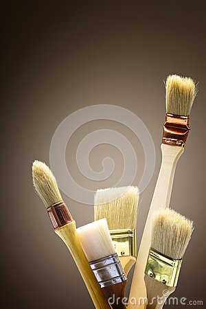 Paintbrush in studio