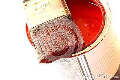 Paintbrush on tin