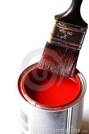 Paintbrush on tin