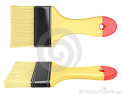 Paintbrush from two angles