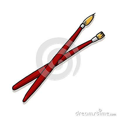 Paintbrushes illustration