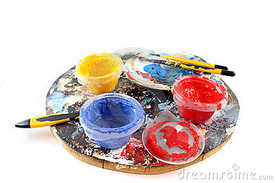 PaintBrushes on a white Background