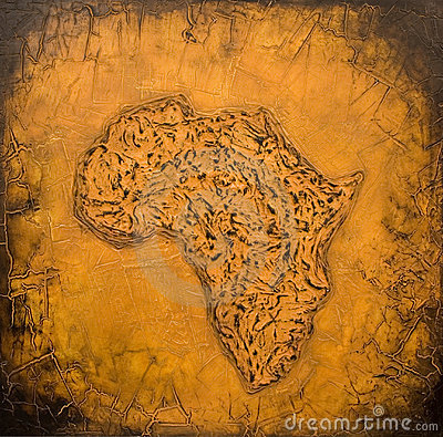 Painted african map