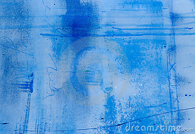 Painted blue background