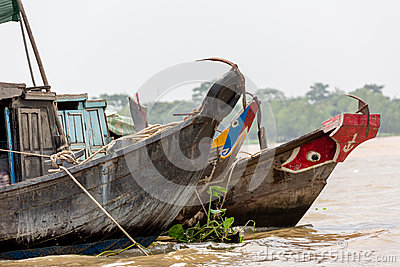 Painted Boats on Vietnam River