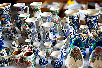 Painted ceramic vase