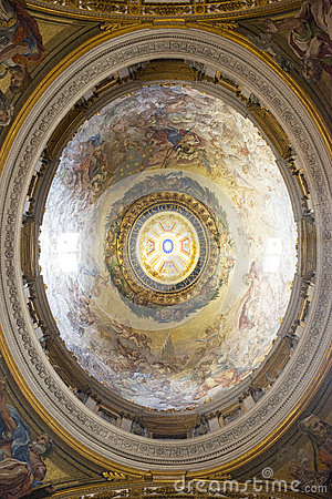 Painted cupola Editorial Stock Photo