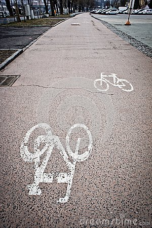 Painted cycle lane