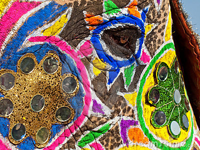 Decorated elephant face - photo#4