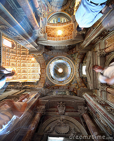 Free Painted Dome In Papal Basilica Of Saint Mary Major Stock Photo - 18595440