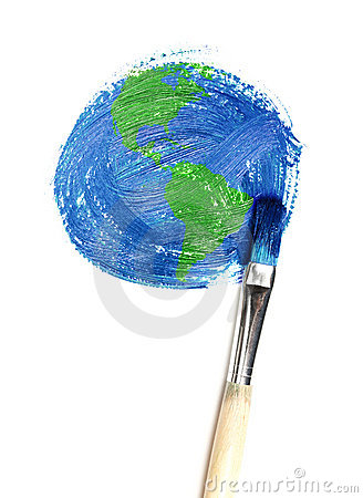 Free Painted Earth Royalty Free Stock Photo - 10546305