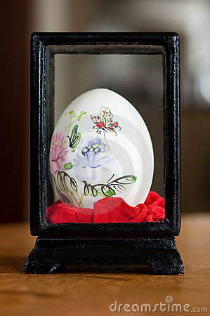 A painted easter-egg