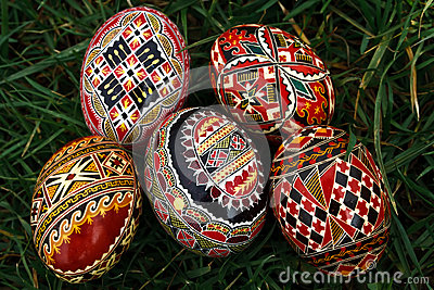Painted Easter eggs 12
