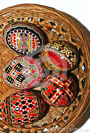 Painted Easter eggs 16