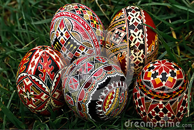 Painted Easter eggs 21
