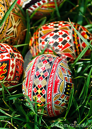 Painted Easter eggs 23