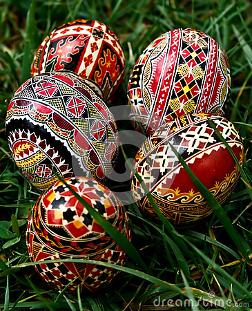 Painted Easter eggs 24