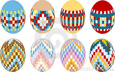 Painted Easter eggs. Design. Illustration.