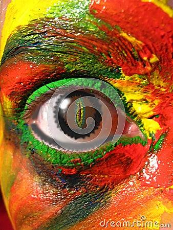 Free Painted Eye Royalty Free Stock Image - 1582446