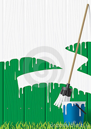 Free Painted Fence Royalty Free Stock Photos - 4203038
