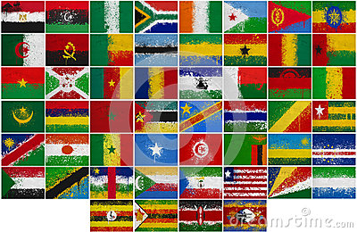Painted Flags of Africa