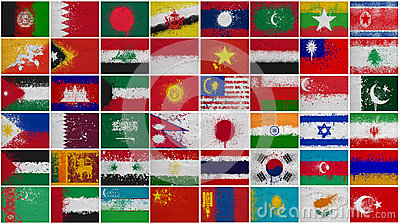 Painted Flags of  Asia