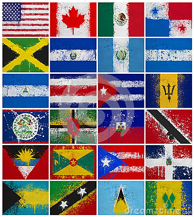 Painted Flags of  North America
