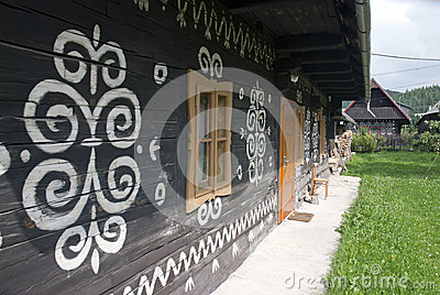 Painted folk cottage, Cicmany