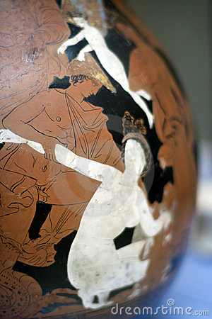 Painted Greek Art Cup Royalty Free Stock Images - Image: 17577309