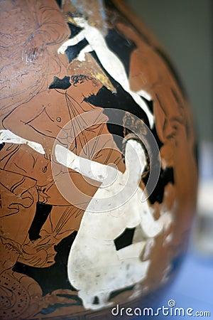 Painted Greek art cup