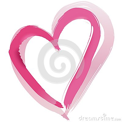 Painted Heart Shape