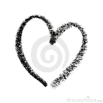 Heart Painted Outline Royalty White Heart Outline No Background
