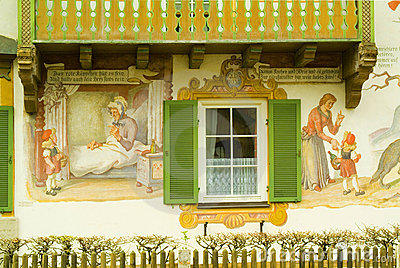 Painted house in Oberamergau, Germany