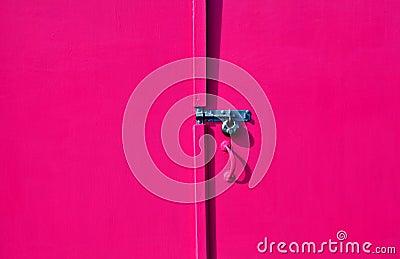 Painted hut door