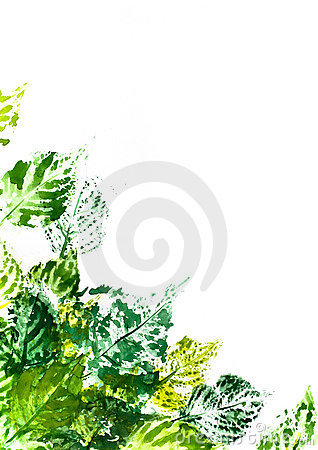 Free Painted Leaves Stock Image - 10367781