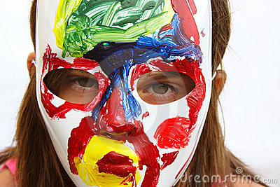Painted Mask Royalty Free Stock Photo - Image: 4234255