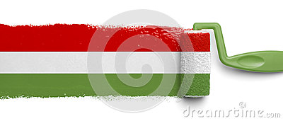 Painted Mexican Flag